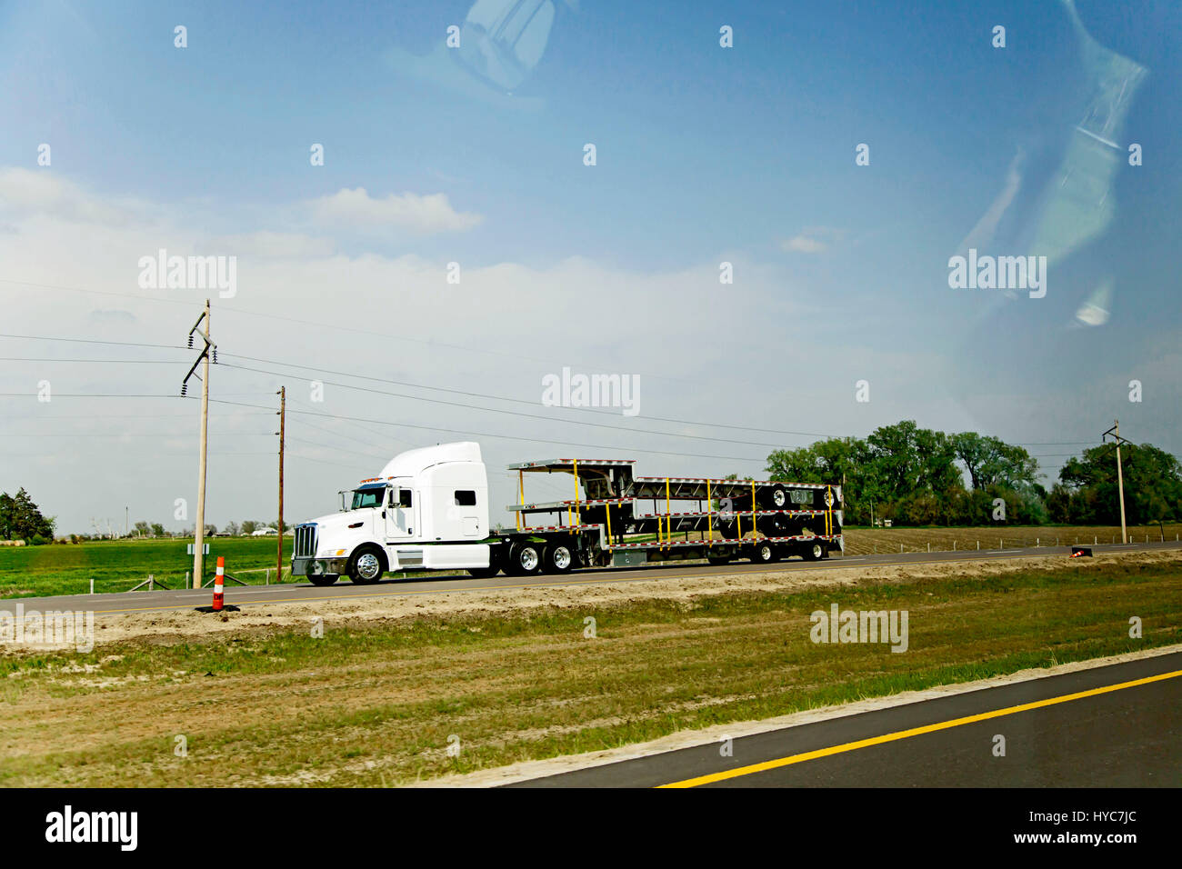 truck on road, united states of america - Stock Image