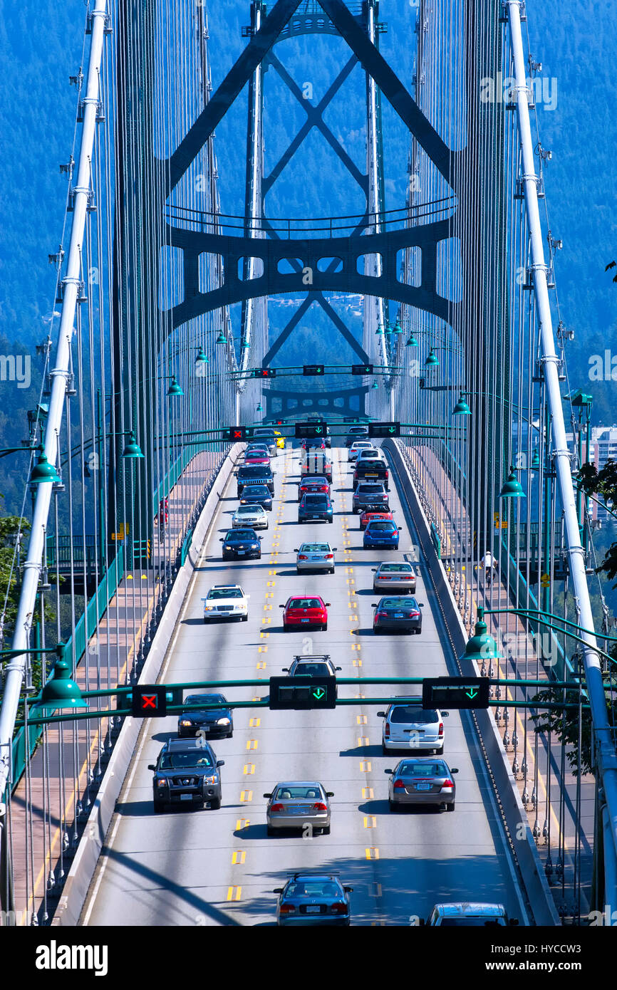 Lions Gate Bridge In Vancouver Stock Photos & Lions Gate Bridge In