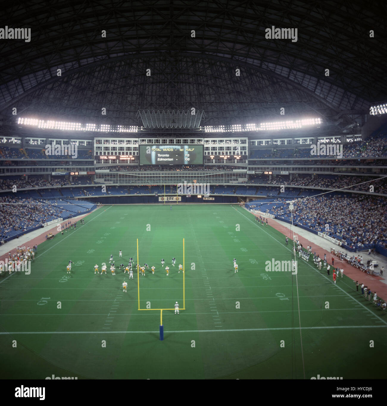 Toronto Skydome Canadian Football Rogers Centre, originally named SkyDome, is a multi-purpose stadium in downtown - Stock Image
