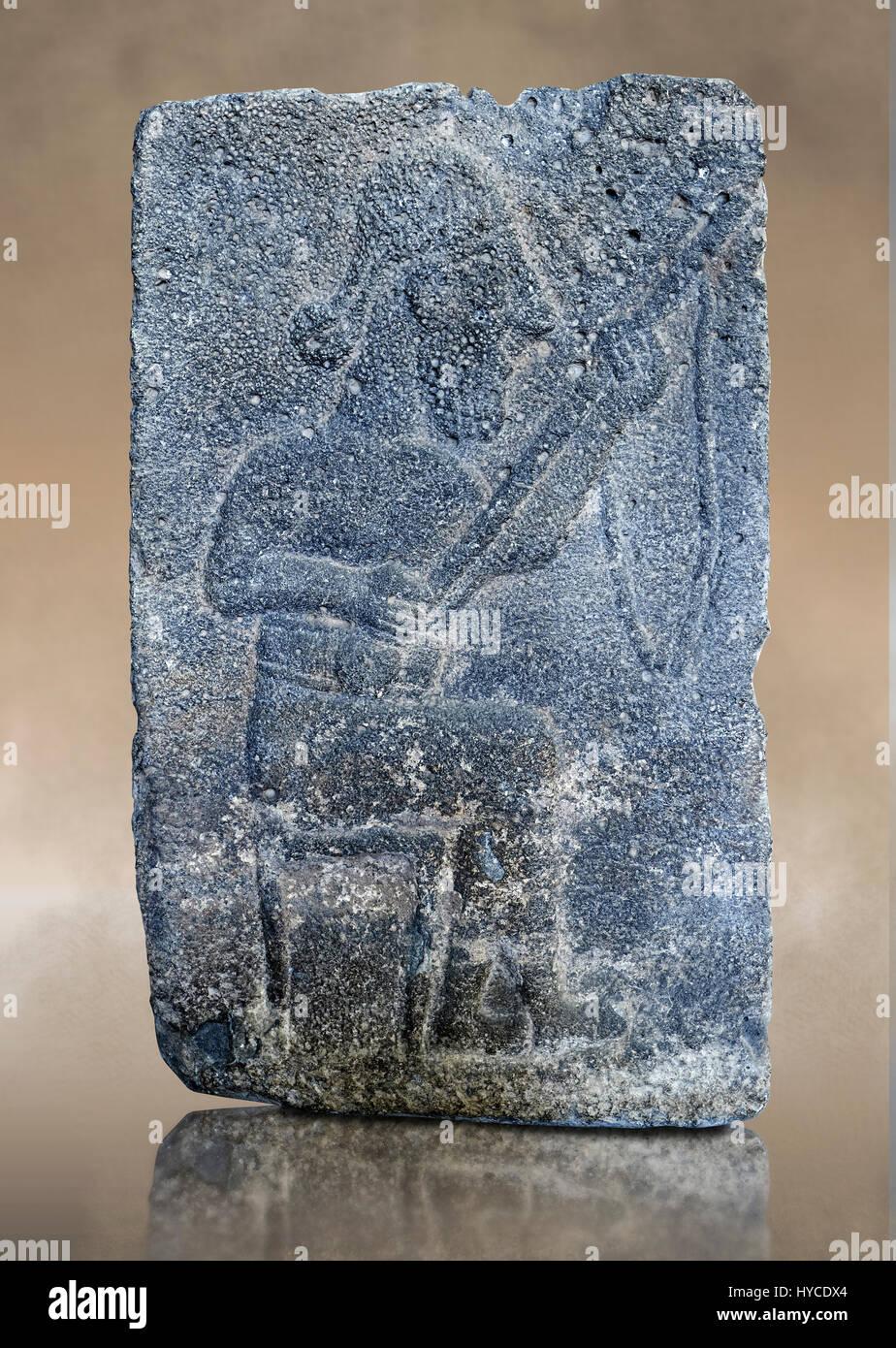 10th - 8th century BC stone Neo-Hittite/ Aramaean Orthostats from the city of Sam'al (Hittite: Yadiya) near Zincirli Stock Photo