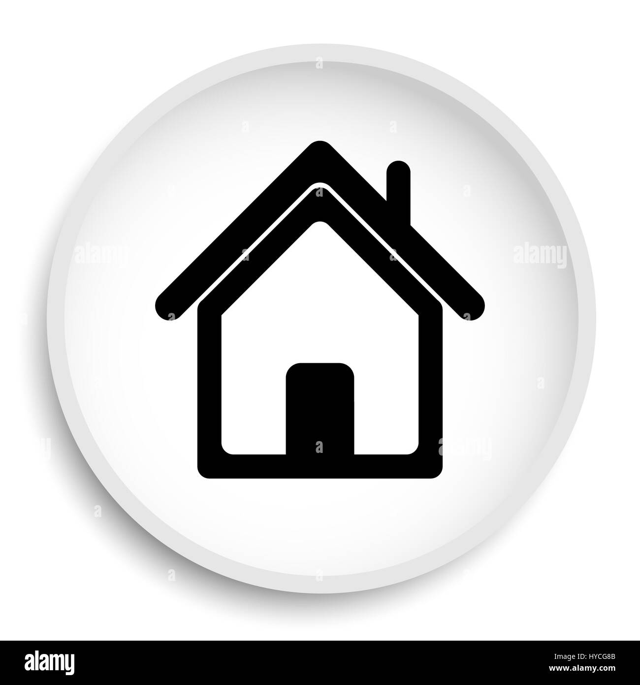 Home Icon Home Website Button On White Background Stock Photo Alamy