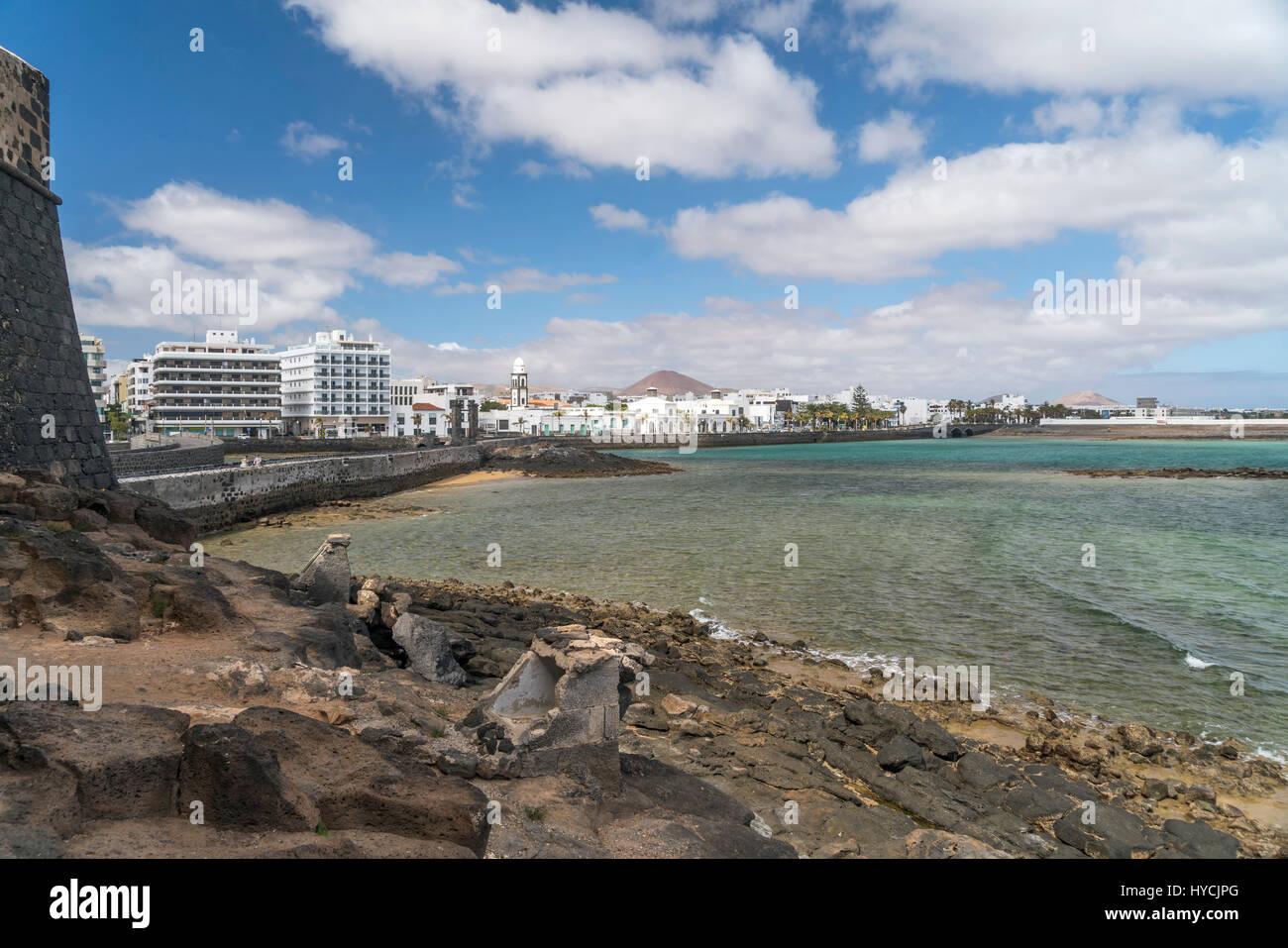 Hauptstadt Arrecife, Insel Lanzarote, Kanarische Inseln, Spanien     the island capital Arrecife,  Lanzarote, Canary Stock Photo