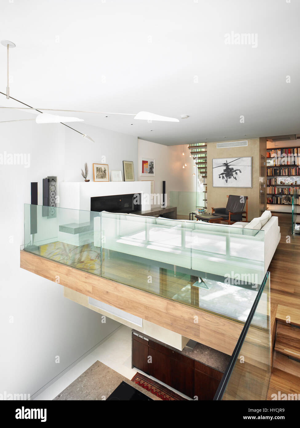 View Of The Open Living Room And Double Height Dining Below 51st Street Townhouse New York United States Architect GLUCK 2009