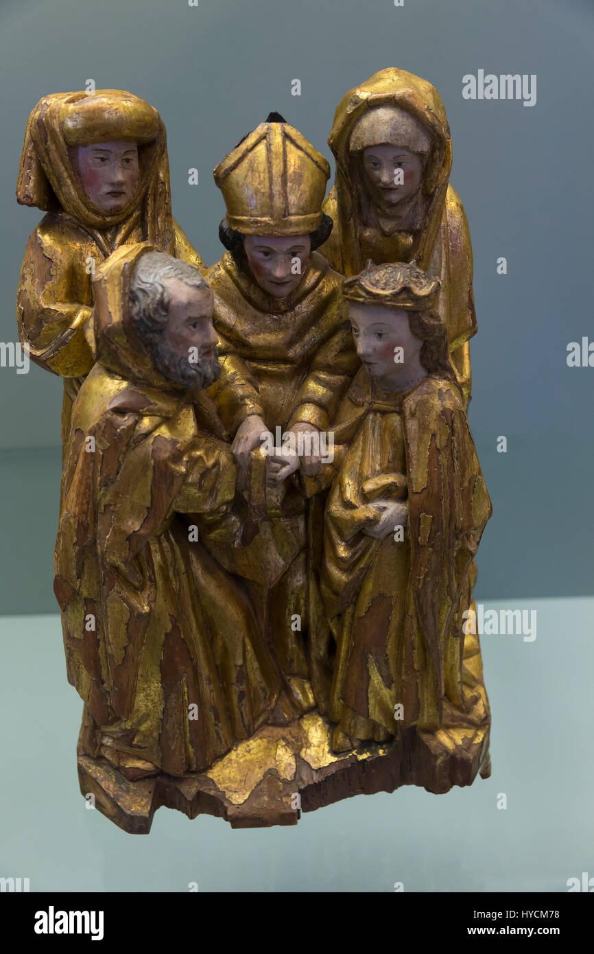 Engagement of the Virgin and Joseph, circa 1435-1445, Boijmans van Beuningen Museum, Rotterdam, Netherlands, Europe - Stock Image