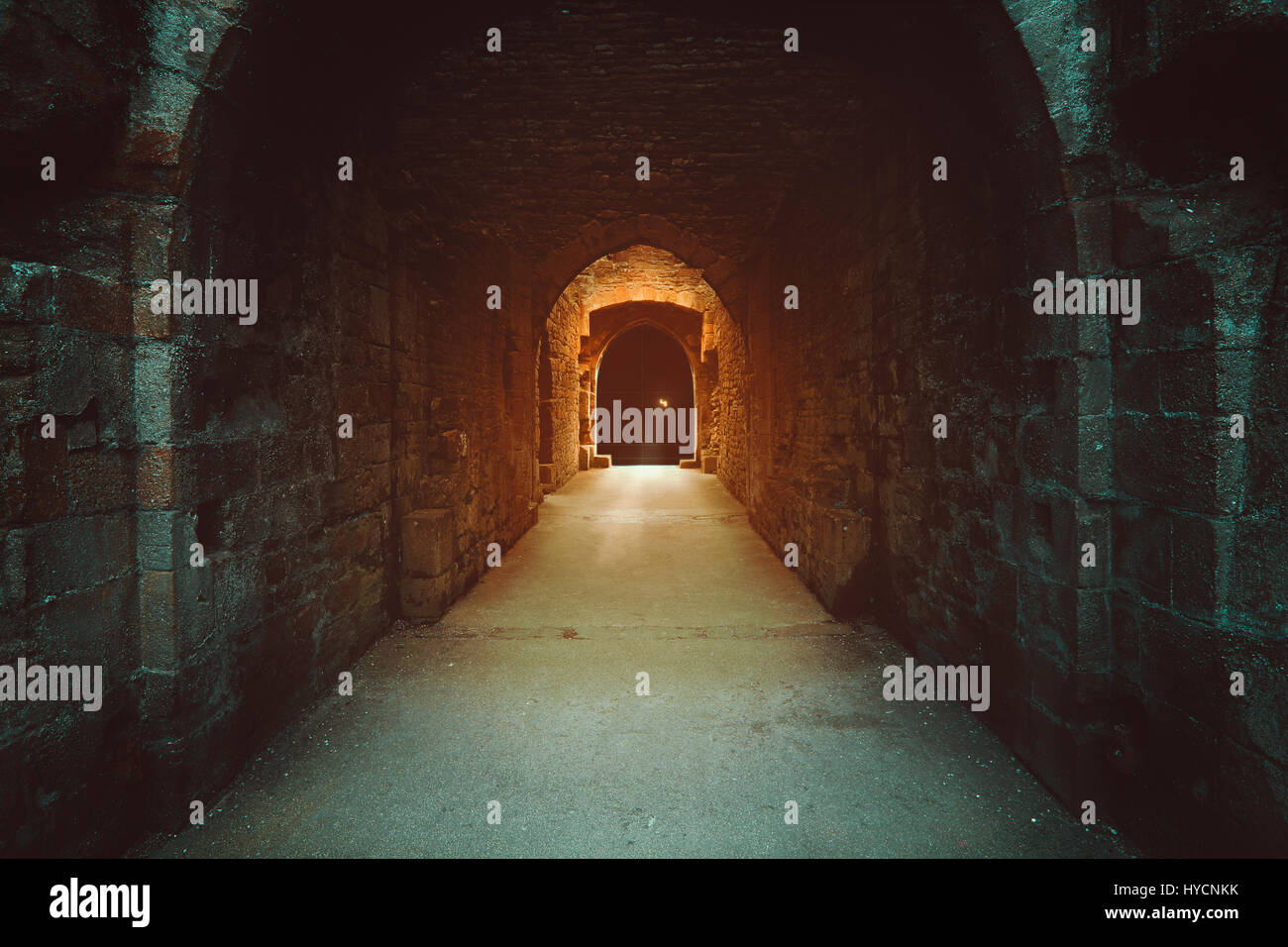Mysterious magical gate to the underworld. Dark fantasy - Stock Image