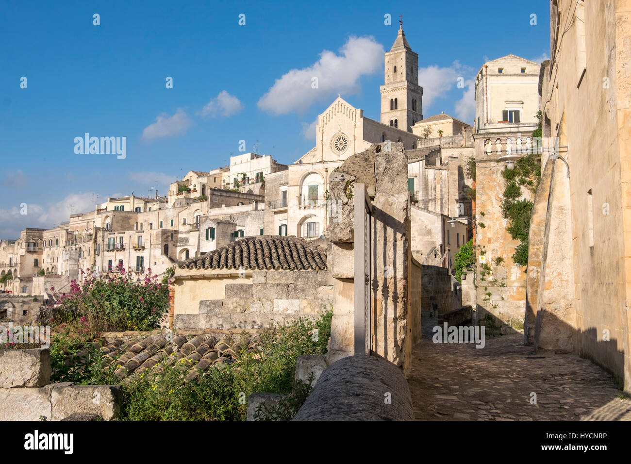 Ancient Italia town of Matera, World Heritage Site and European Capital of Culture for 2019. - Stock Image