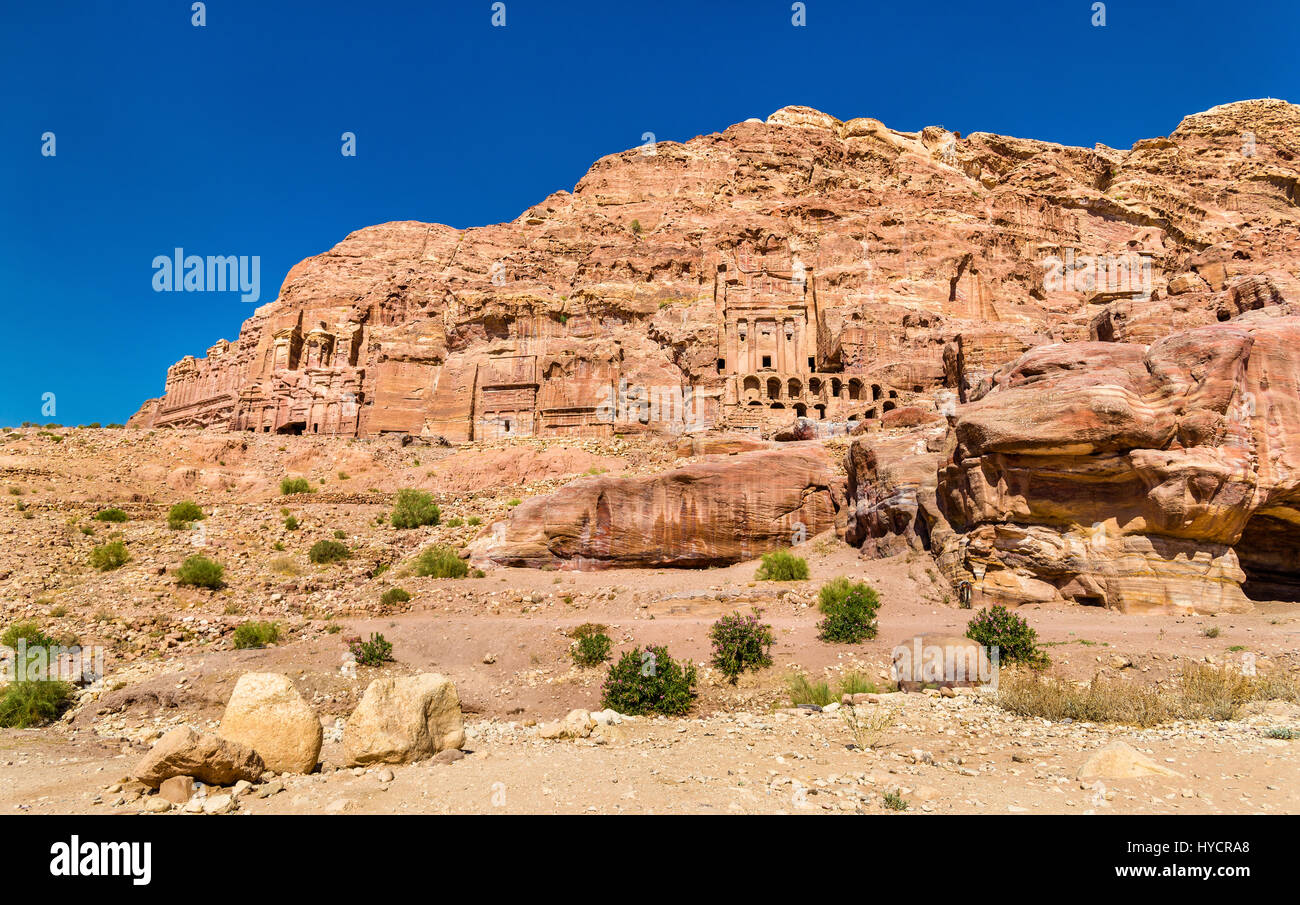 The Royal Tombs at Petra, UNESCO world heritage site - Stock Image