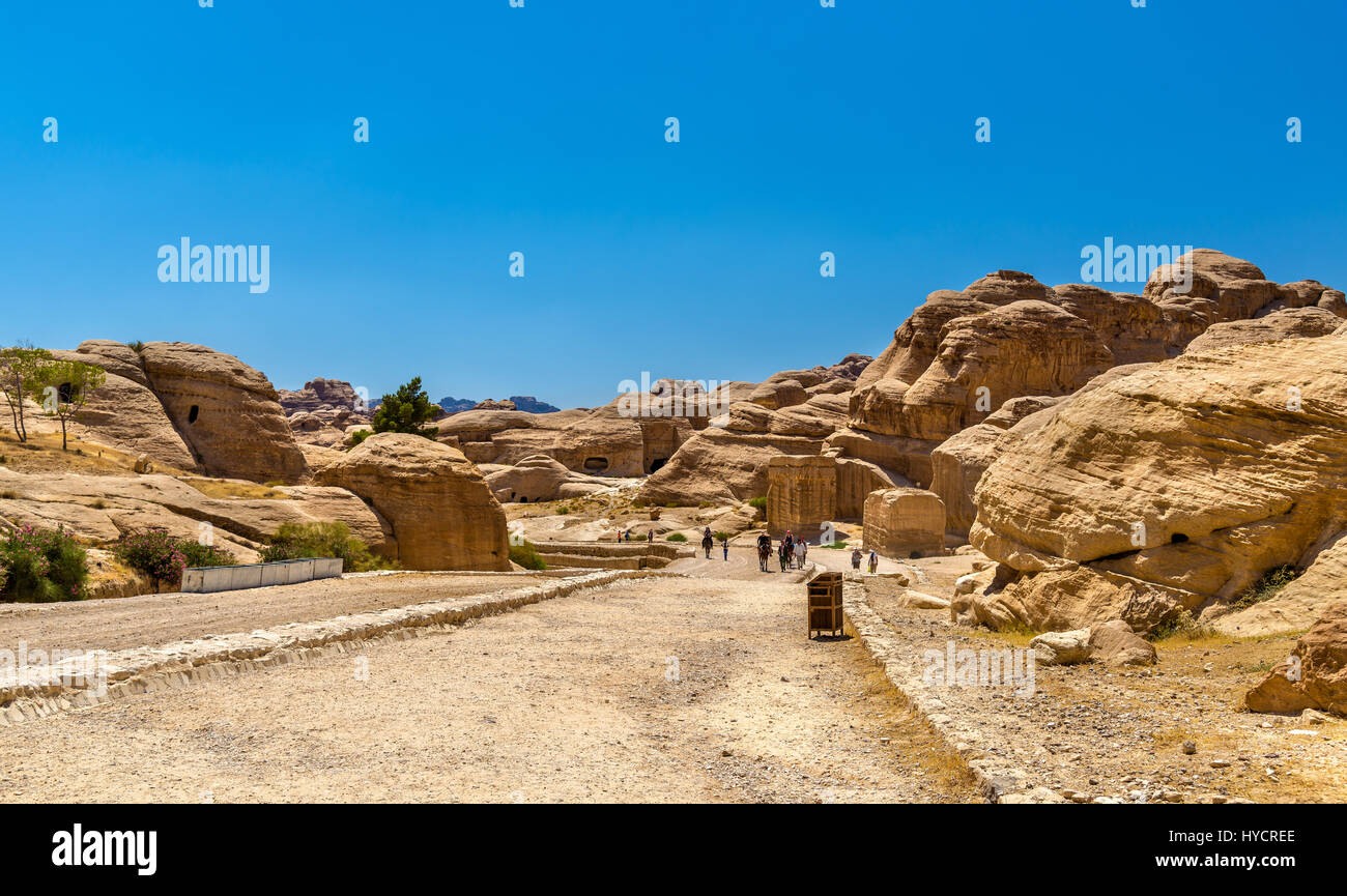 Road to the Siq at Petra - Stock Image
