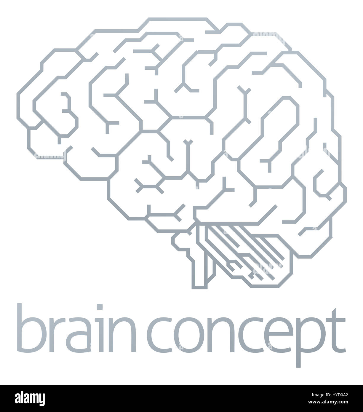 Human brain side diagram stock photos human brain side diagram a conceptual illustration of a stylised brain from the side stock image ccuart Images