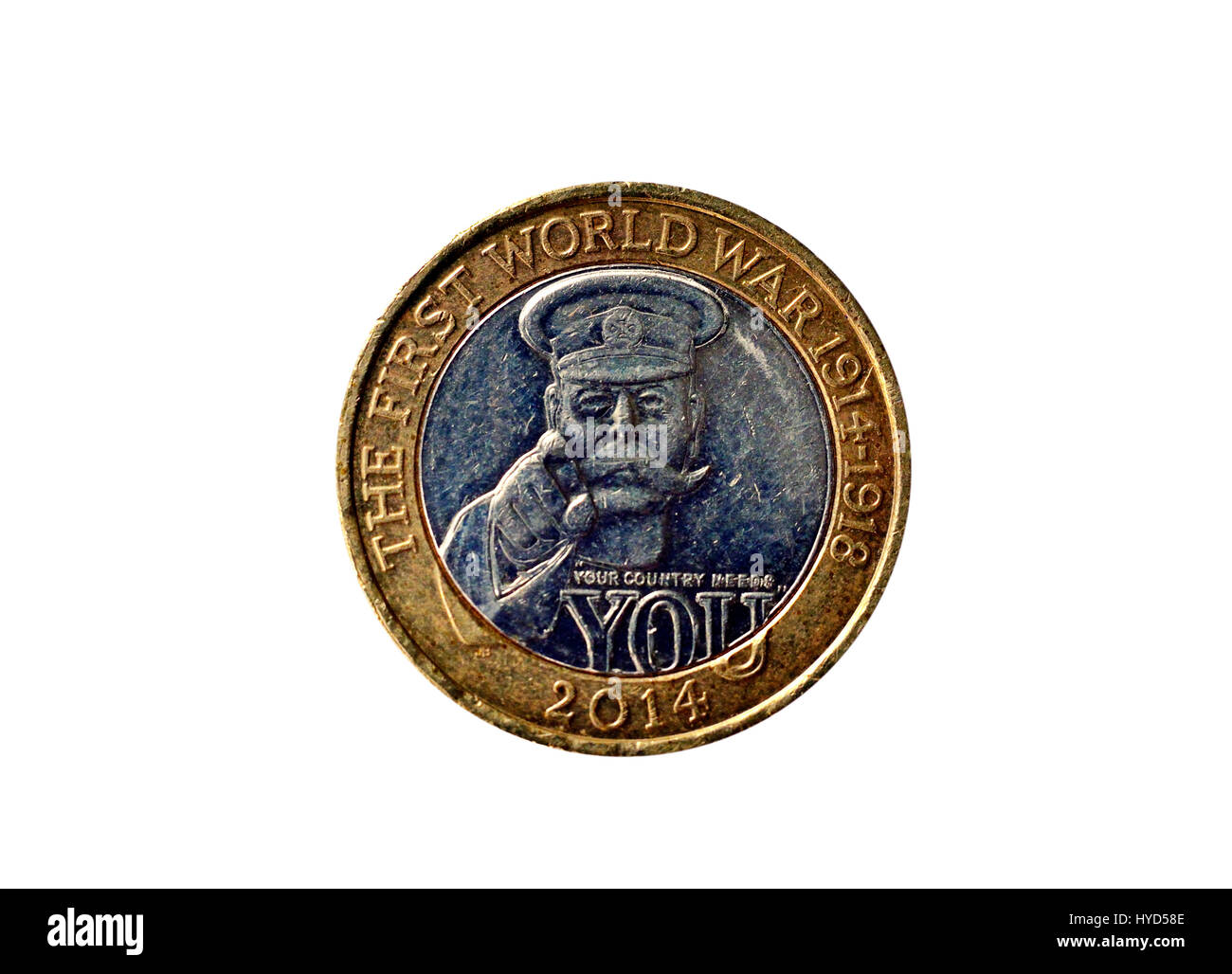 Unusual and special celebration two pound coin - Stock Image