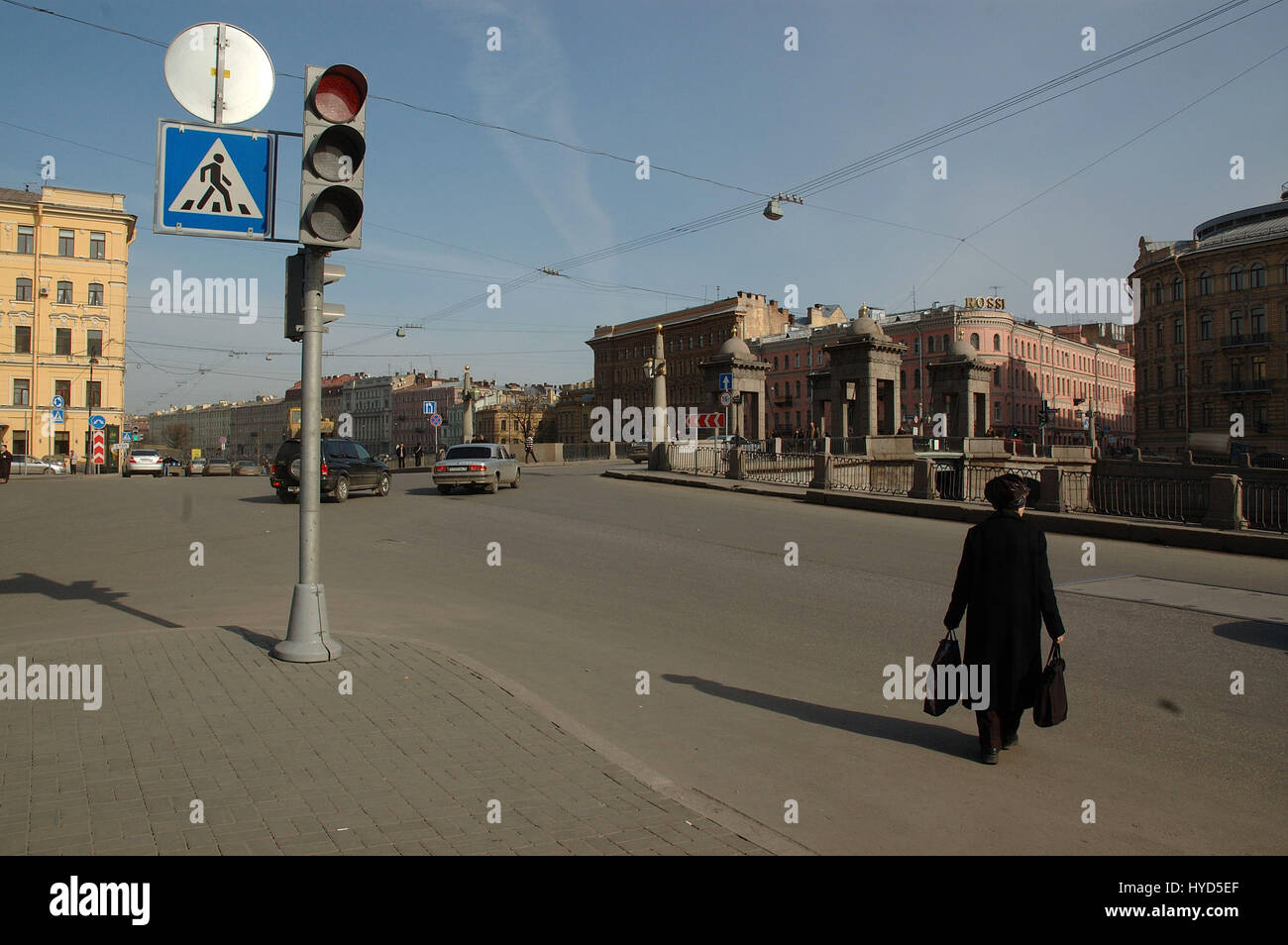 Detail from the streets of Sankt-Peterburg, Russia - Stock Image