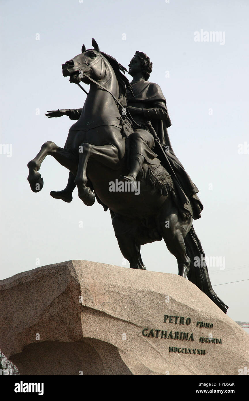 Peter the Great Statue, Sankt-Peterburg, Russia Stock Photo