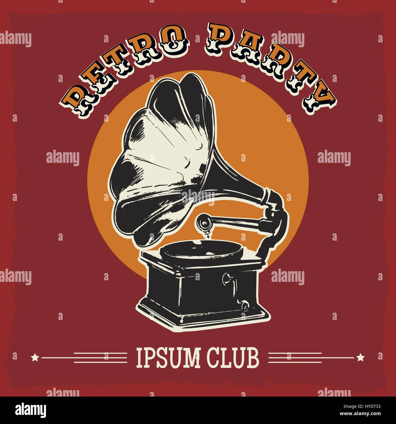 vintage party poster with old gramophone vector illustration in stock vector image art alamy https www alamy com stock photo vintage party poster with old gramophone vector illustration in retro 137359239 html