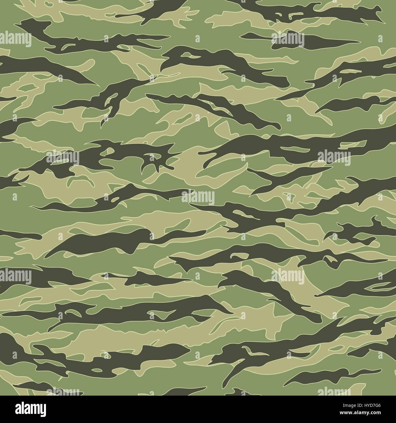 Vietnam Tiger stripe Camouflage seamless patterns Stock Vector