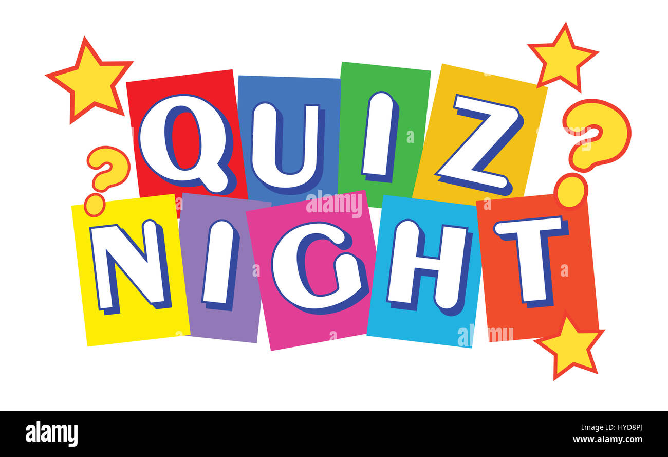 Quiz Night Banner Stock Photo: 137360570 - Alamy