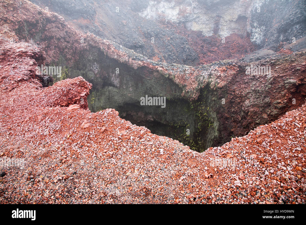 Fumarole on Volcan Chico - Stock Image