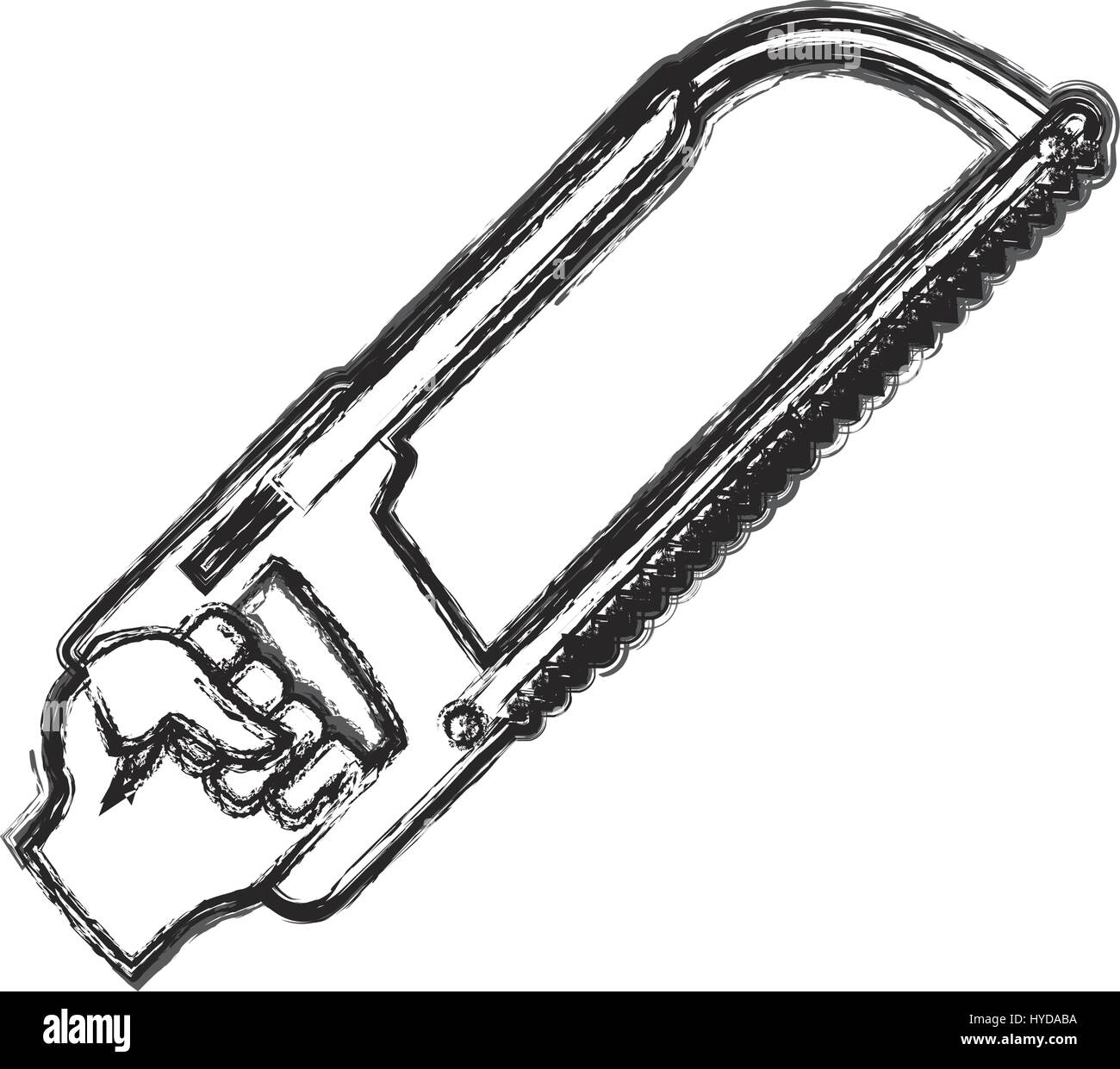 hand coping saw carpentry tool vector icon illustration - Stock Image