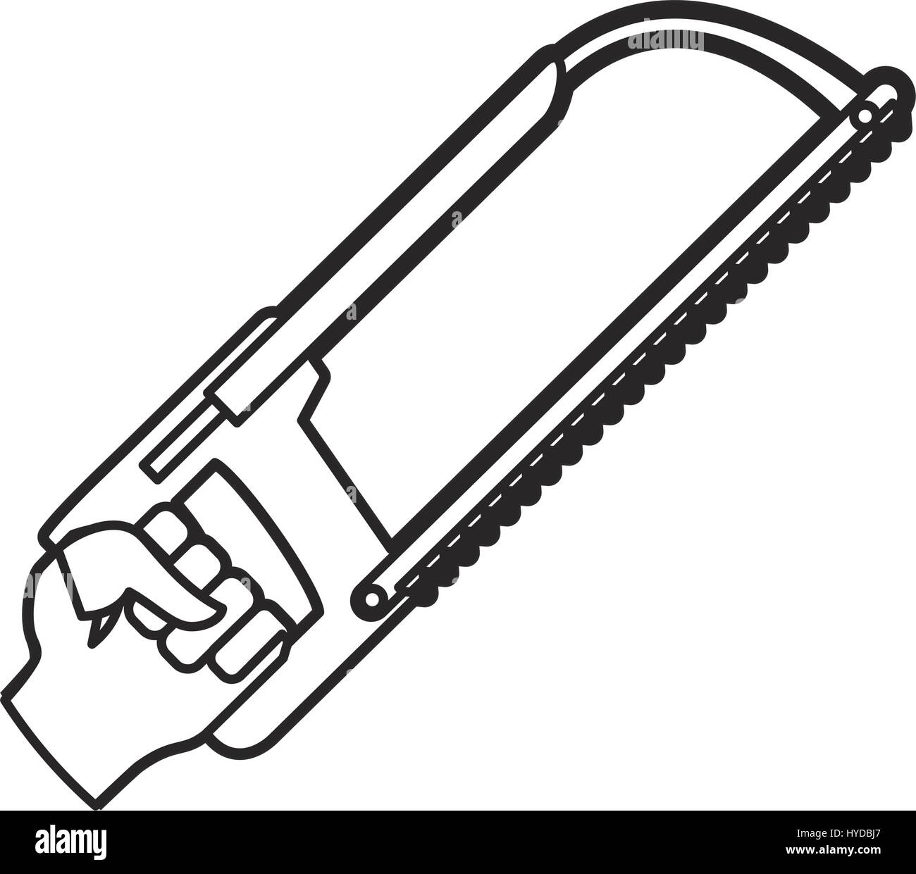coping saw carpentry tool vector icon illustration graphic design - Stock Image