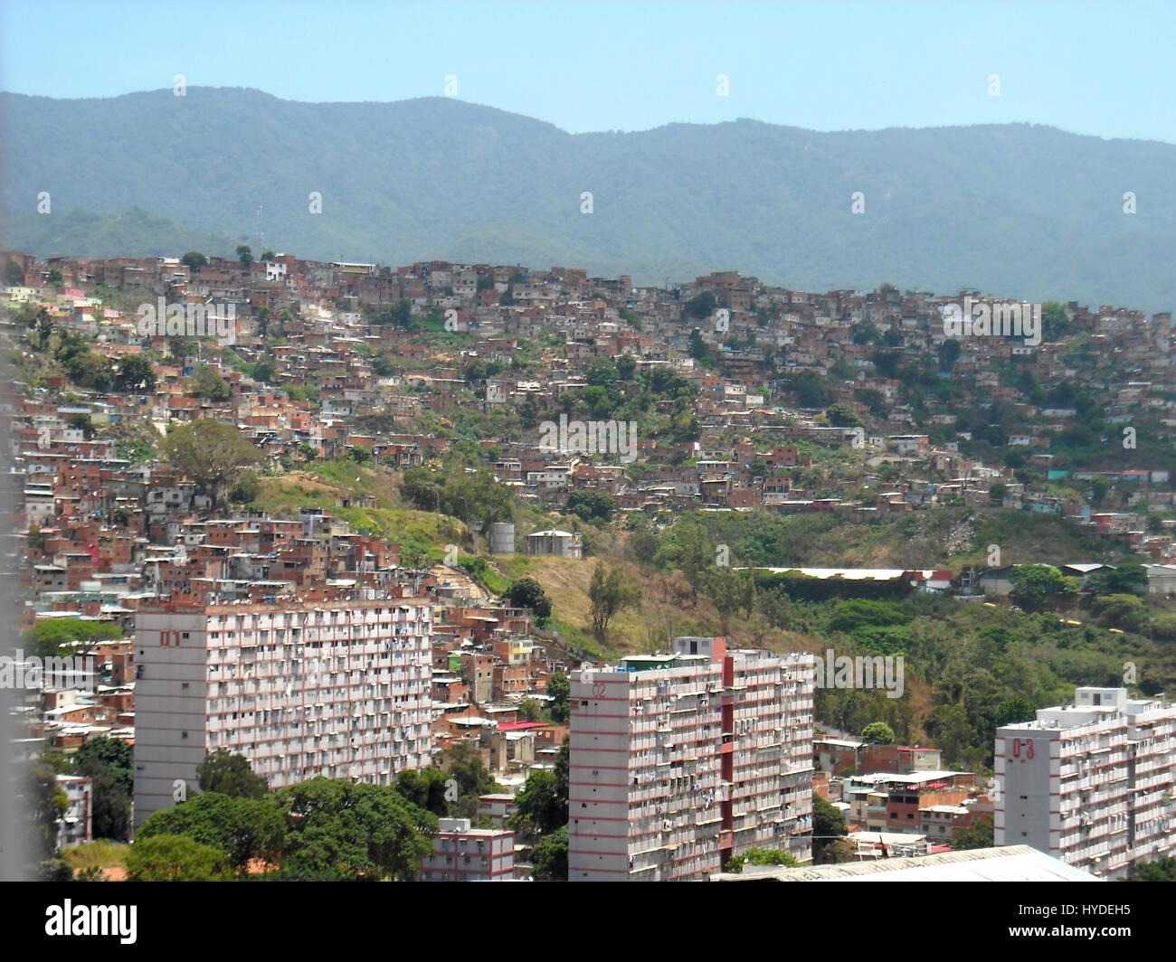 Caracas city,Slum,Caracas,Artigas,Venezuela - Stock Image