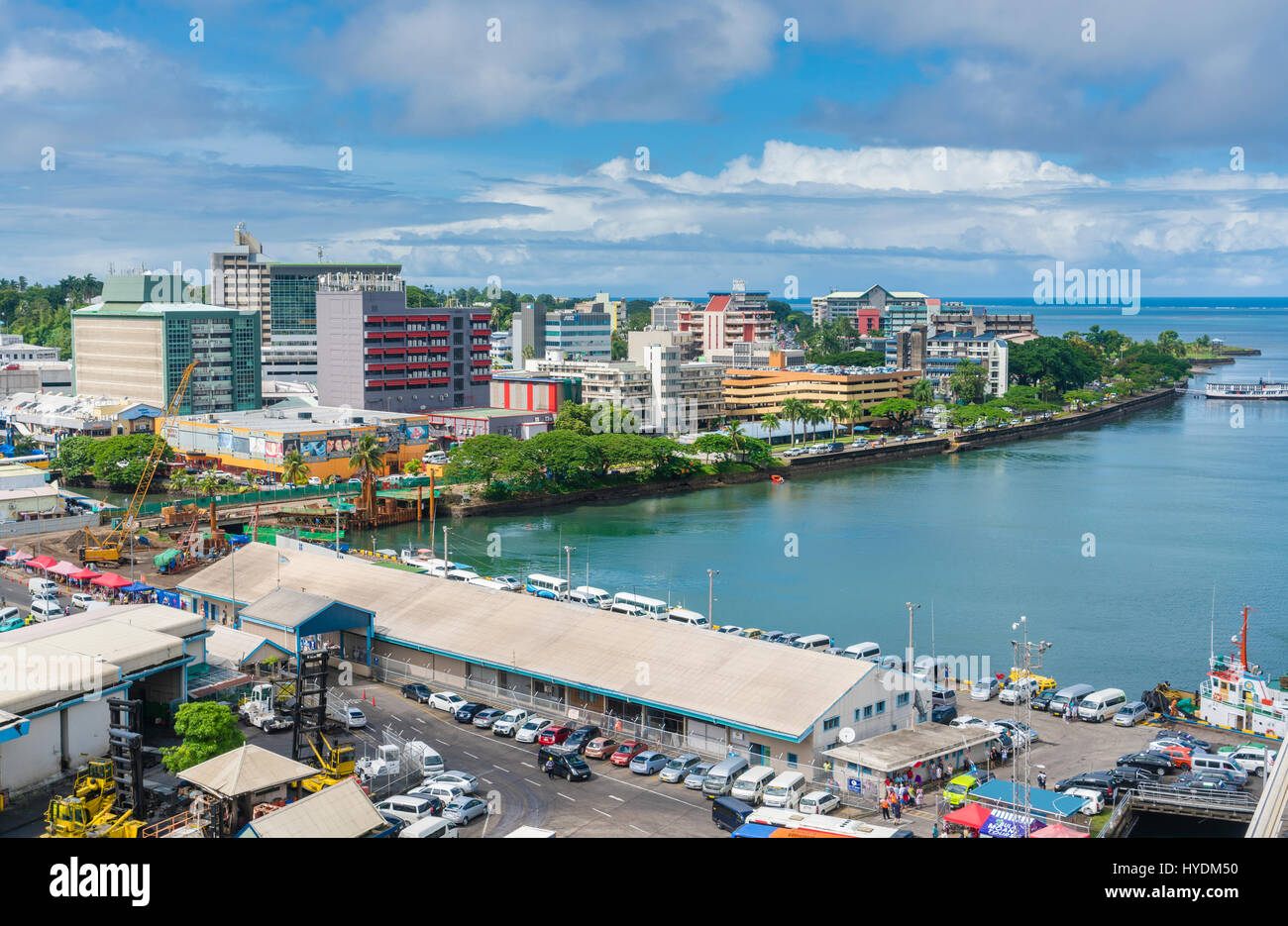 City centre of Suva in Fiji - Stock Image