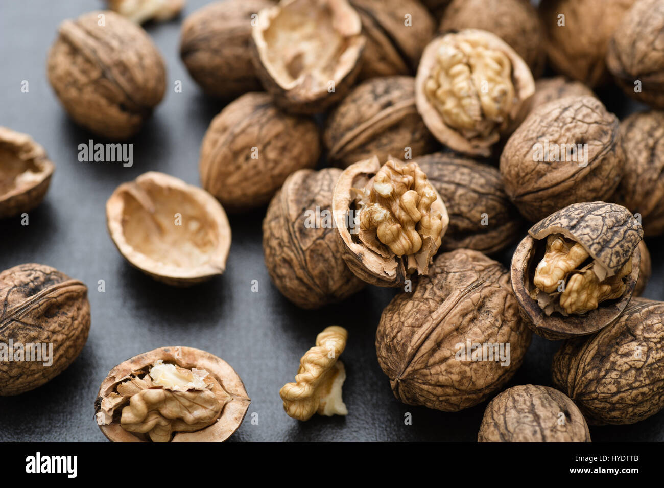 Fresh organic walnuts - Stock Image