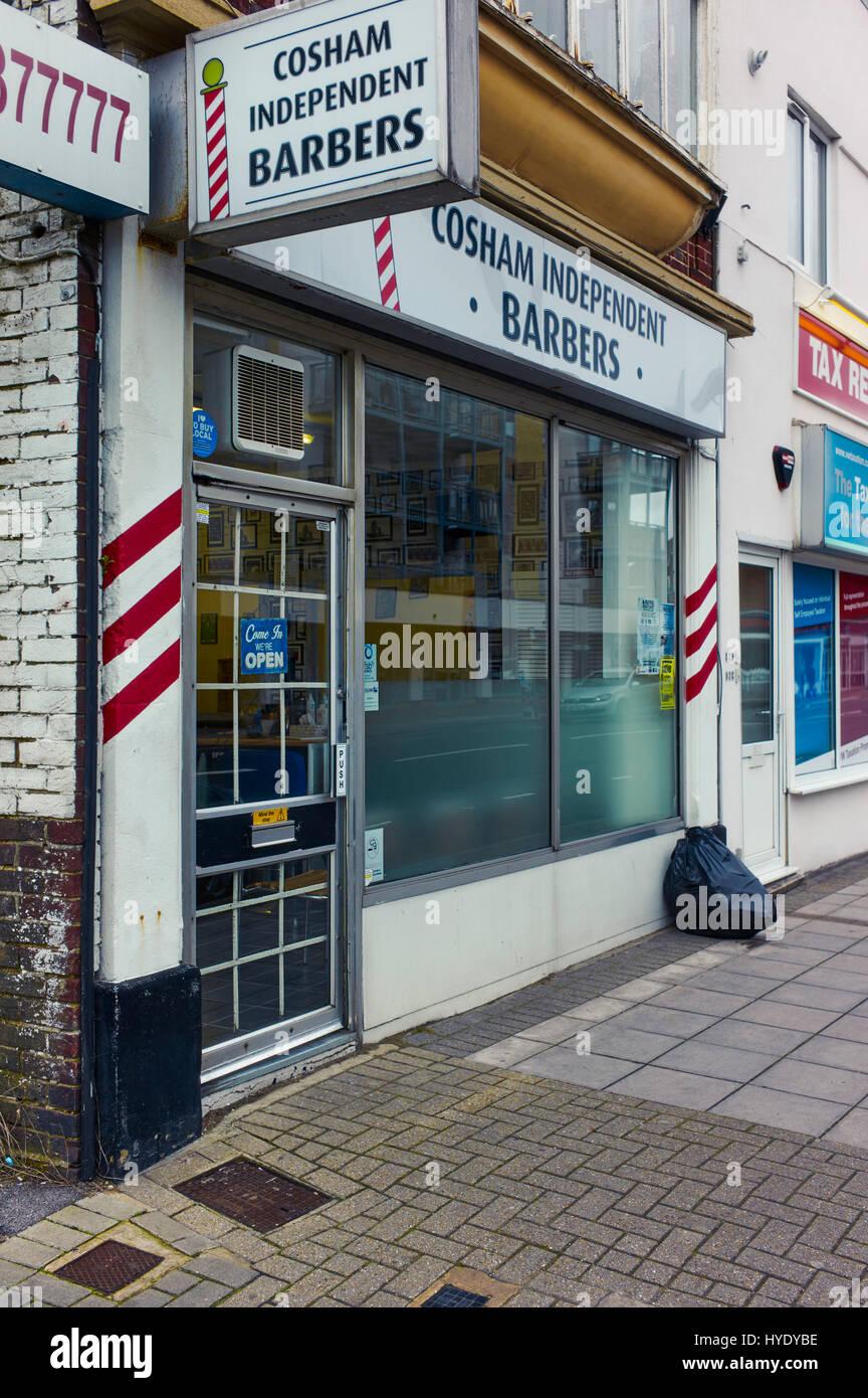 Cosham Independent Barbers Stock Photo