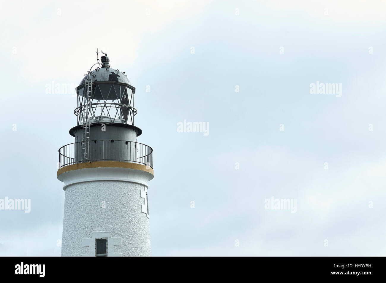 Top part of lighthouse - Stock Image