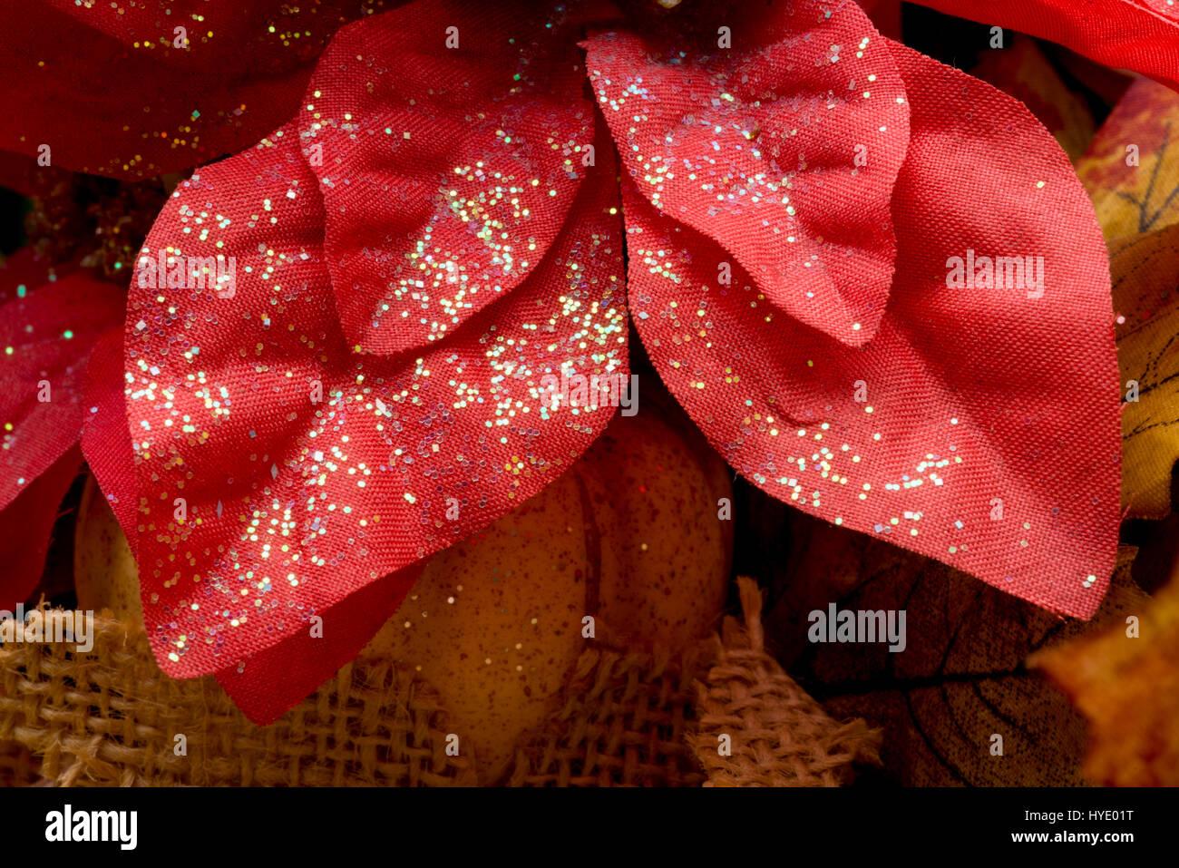 decorative floral picks leaves - Stock Image