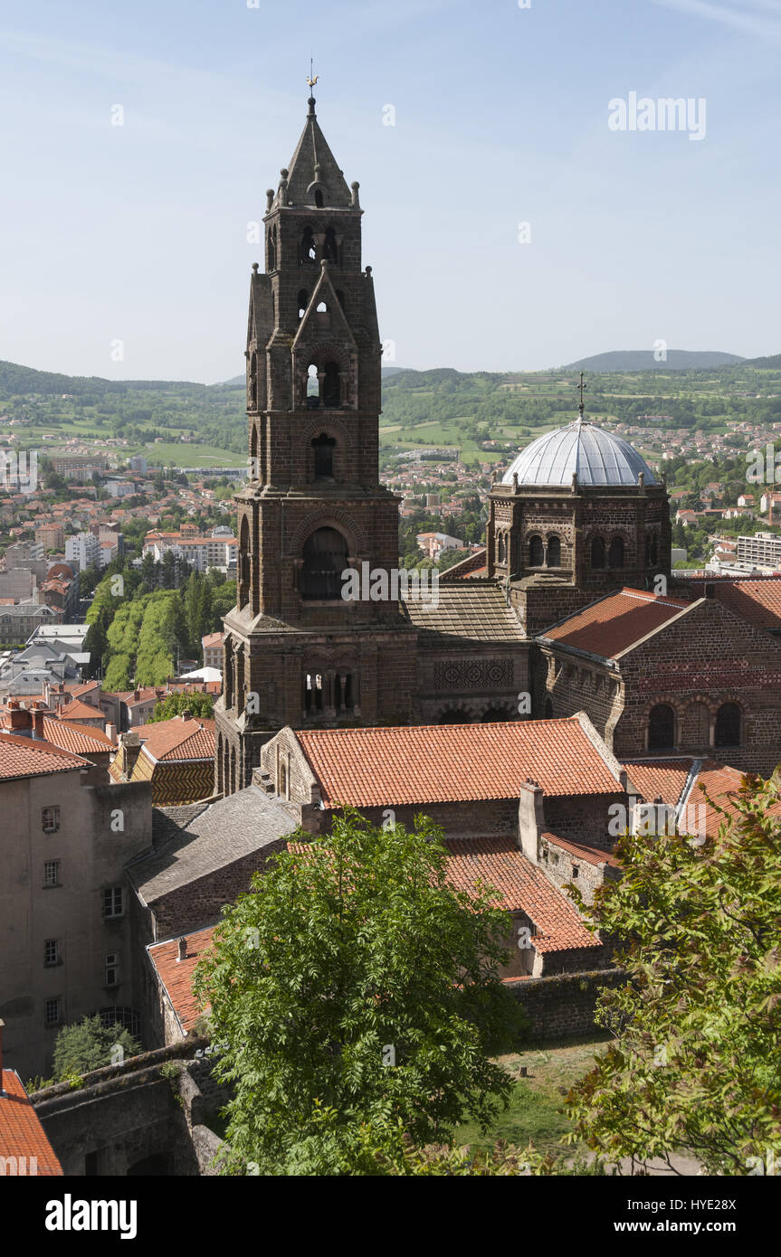 France, Le Puy en Velay, Cathedral Notre Dame Stock Photo