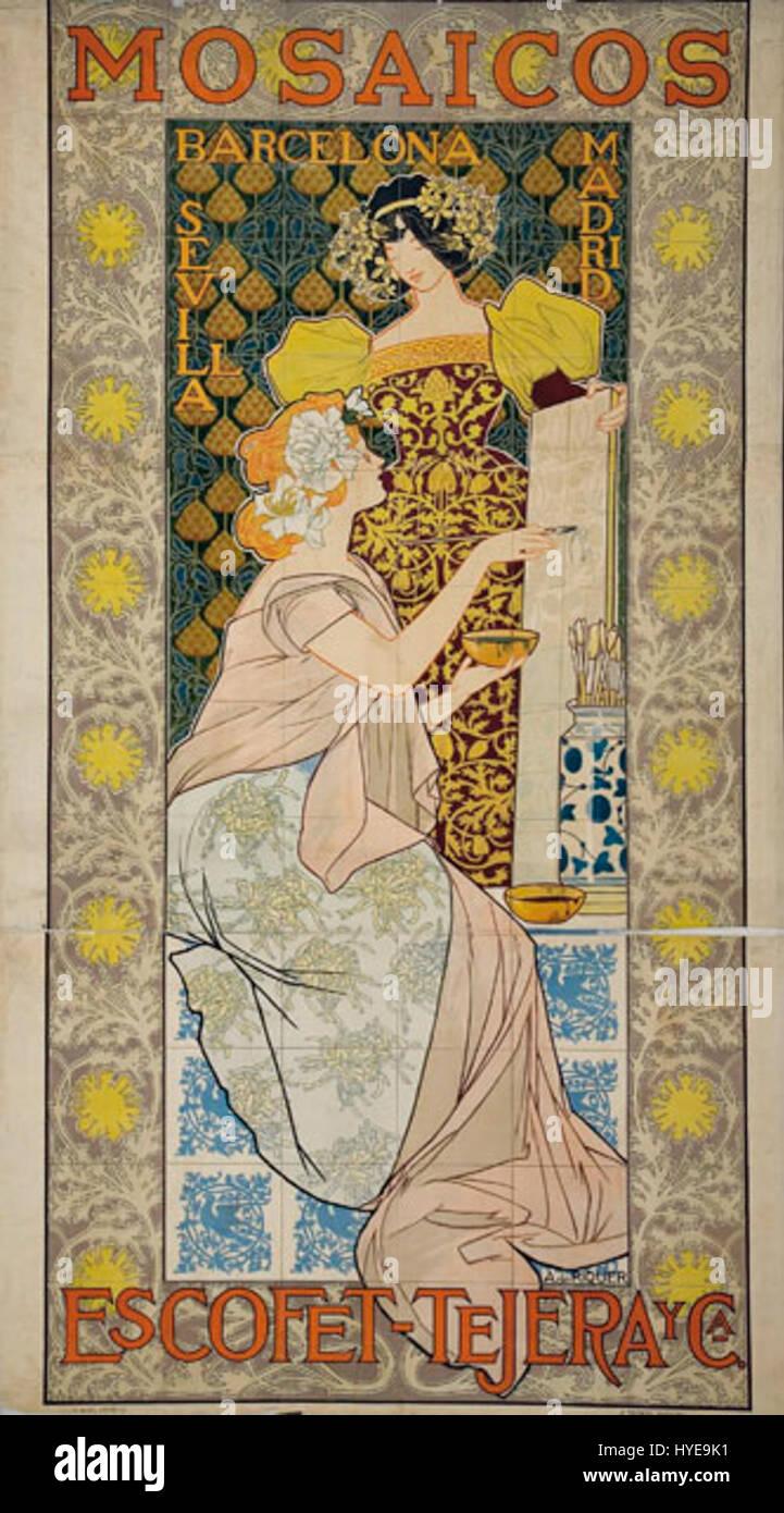 Mosaicos Escofet Tejera y CA de Riquer - Stock Image