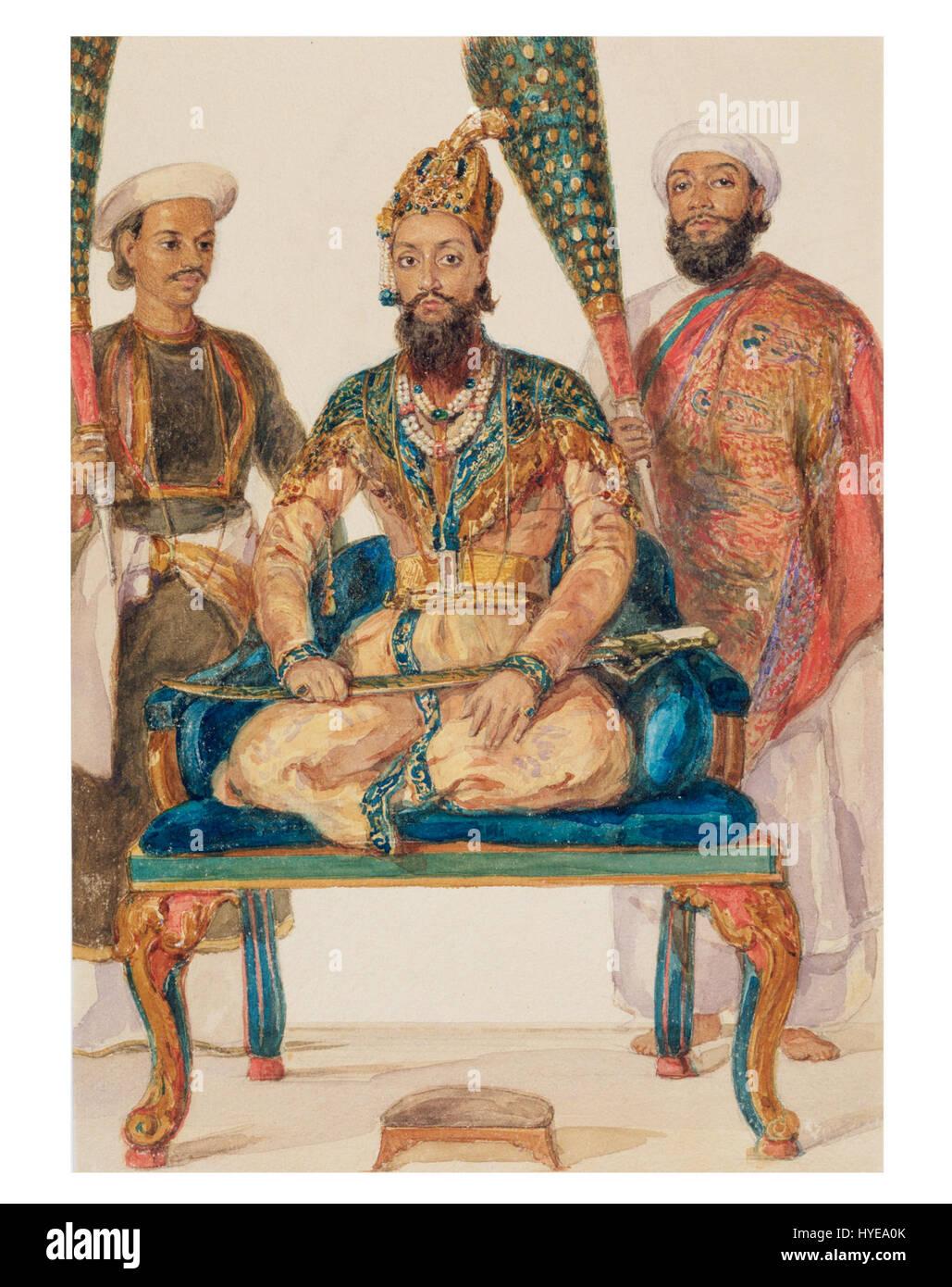 Prince Fakhr ud Din Mirza, eldest son of Bahadur Shah II, 1856 - Stock Image