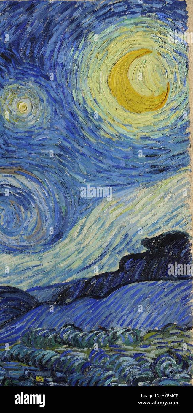 van gogh starry night google art project x1 y0 stock photo