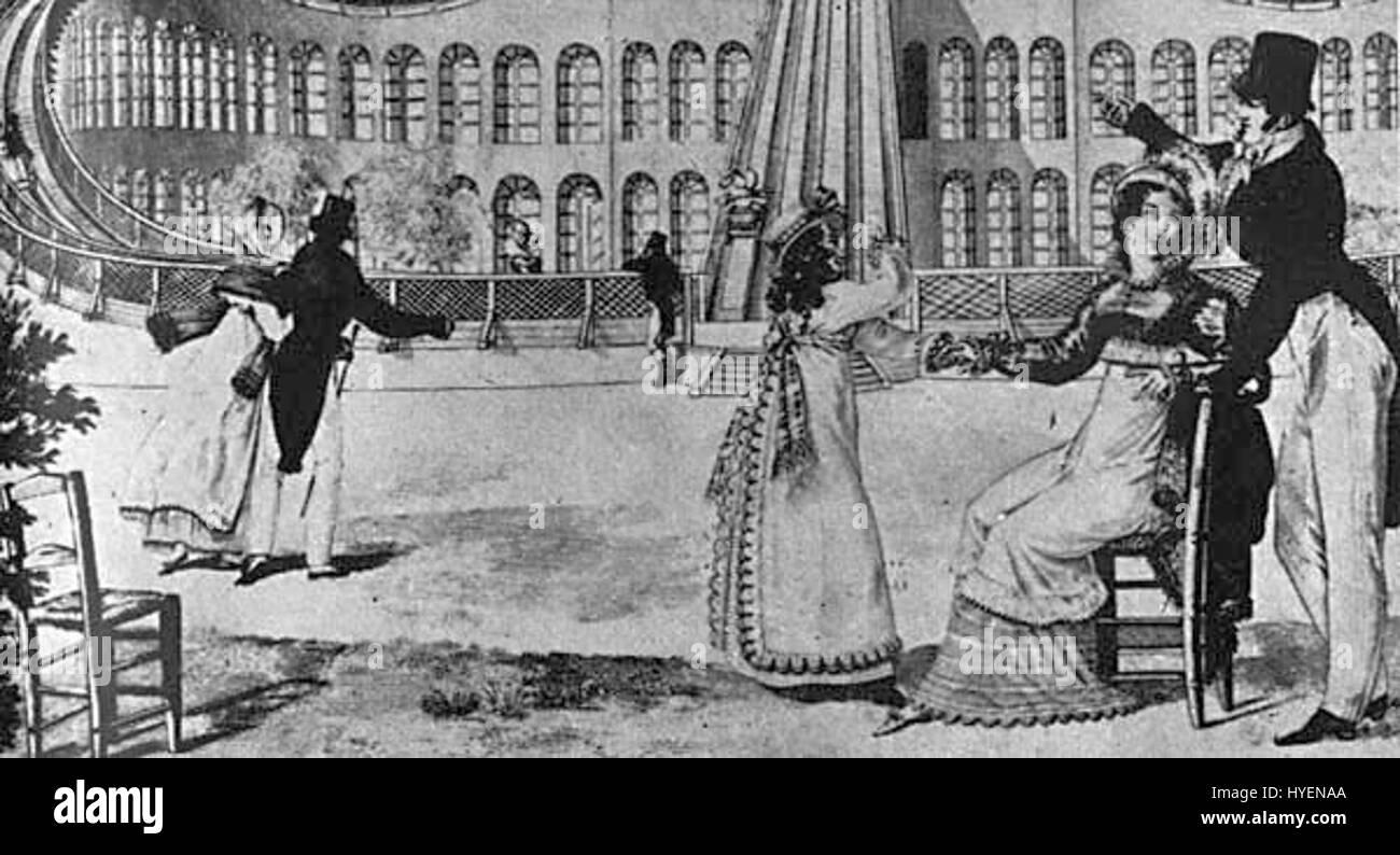1817 early rollercoaster Promenades Aeriennes Le Bon Genre - Stock Image