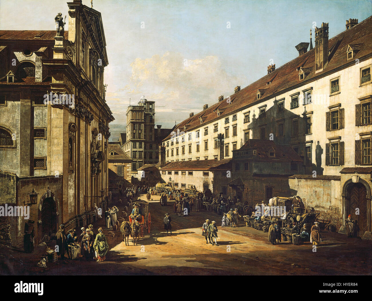 Bernardo Bellotto, called Canaletto   Vienna, Dominican Church   Google Art Project Stock Photo