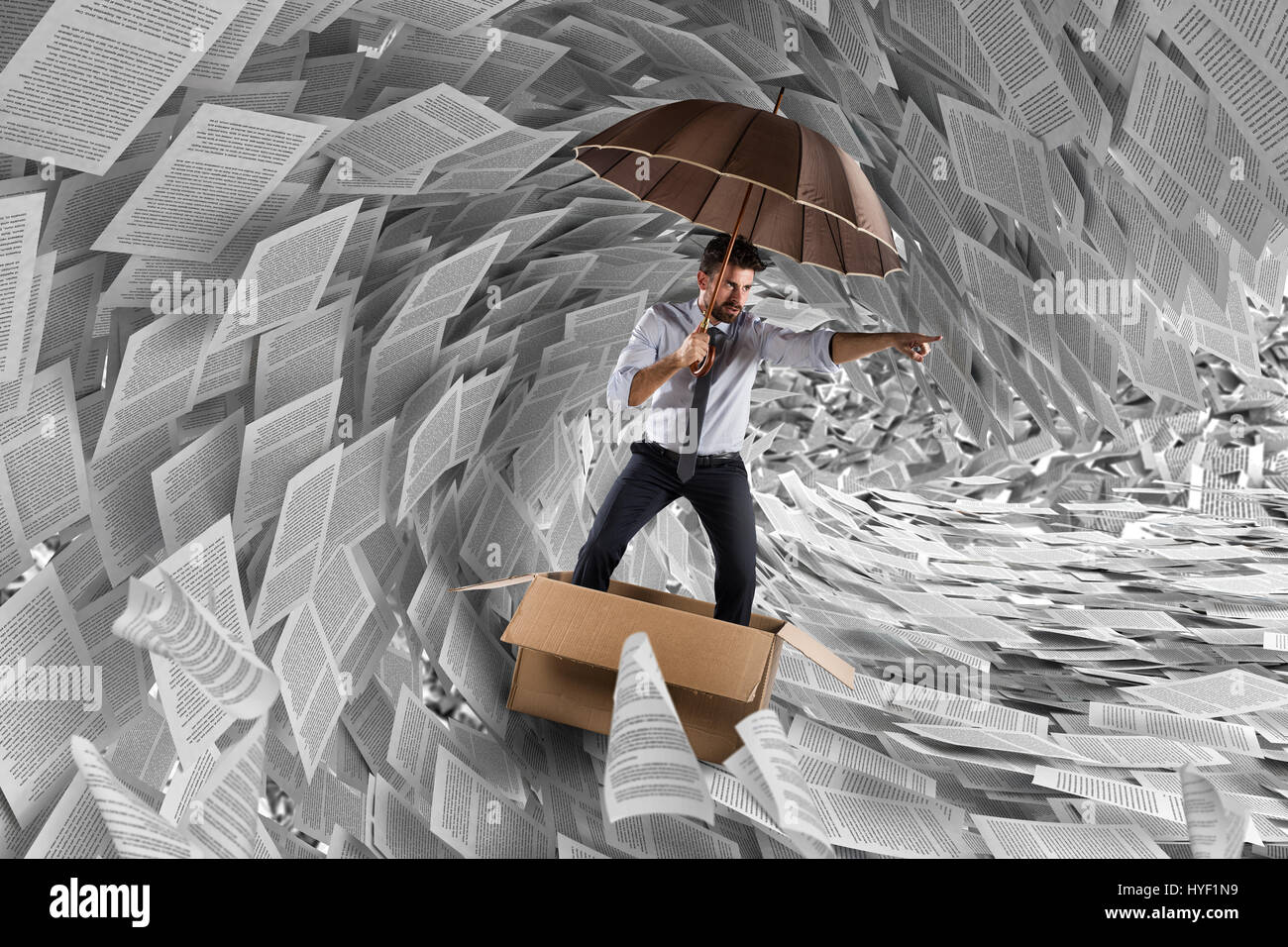 Navigate the storm of bureaucracy - Stock Image
