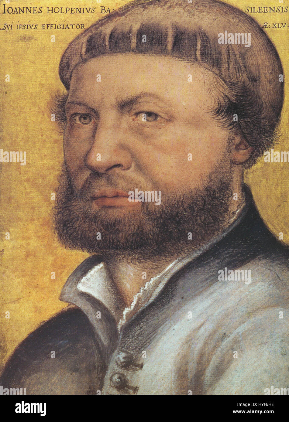 Hans Holbein the Younger, self portrait - Stock Image