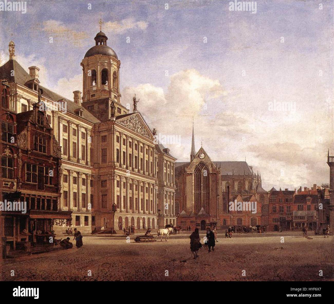 The New Town Hall in Amsterdam (1668) Jan van der Heyden