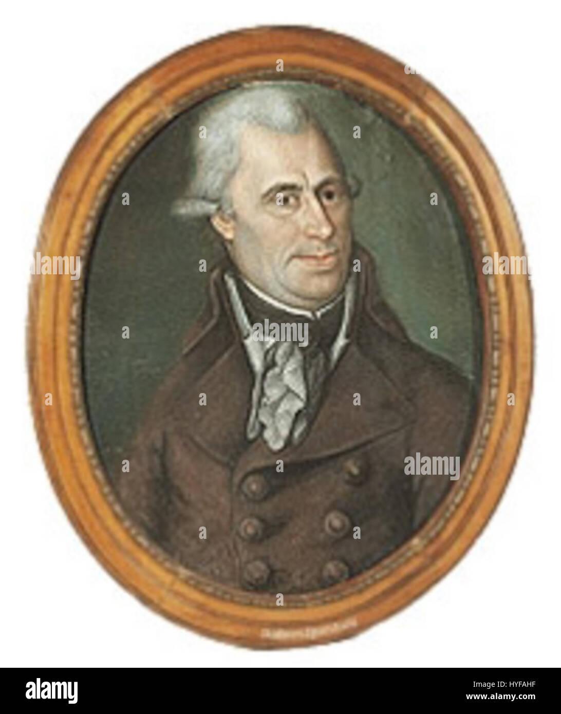 Gideon Sponholz (1745 1807) - Stock Image
