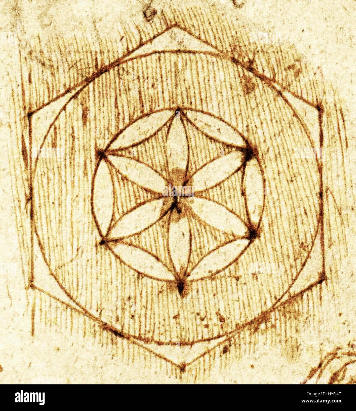 Leonardo Da Vinci Codex Atlanticus Folio 459r Detail1 Stock Photo