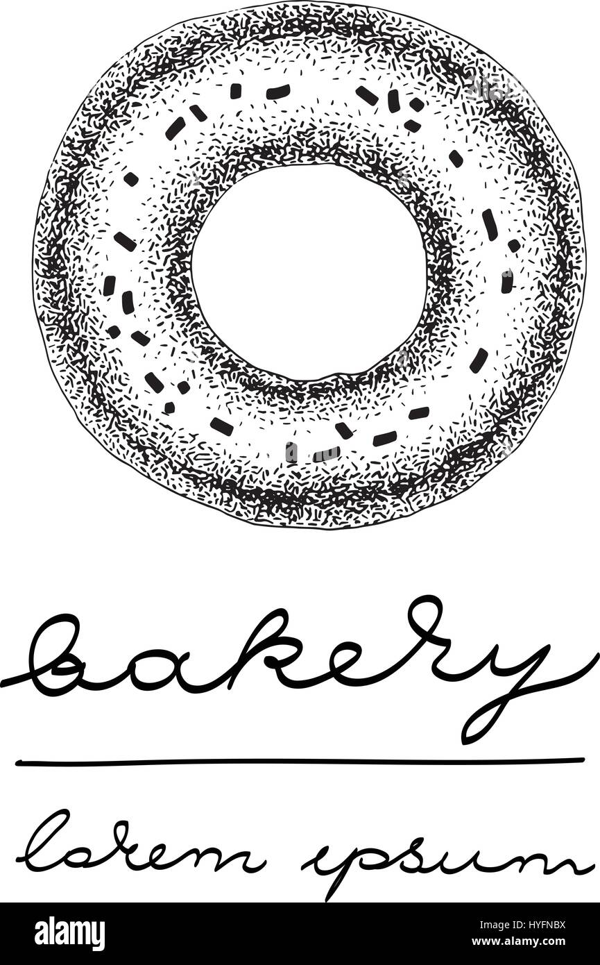 vector logo template with glazed donut can be use for bakery pastry