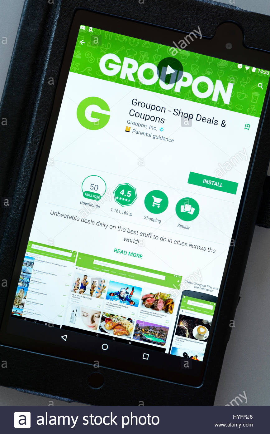 Groupon App Stock Photos & Groupon App Stock Images - Alamy
