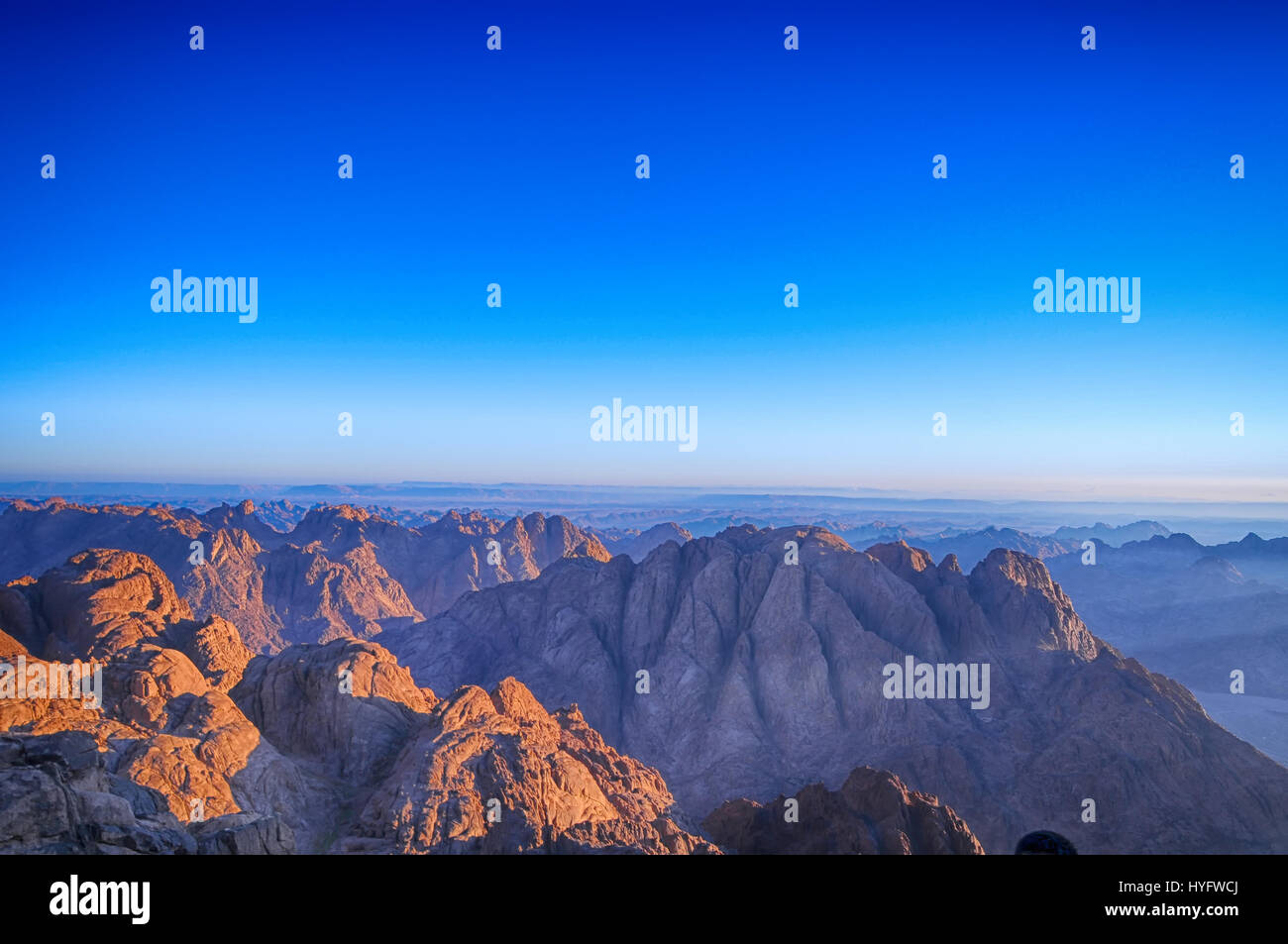 Sun Rise at Sinai - Stock Image