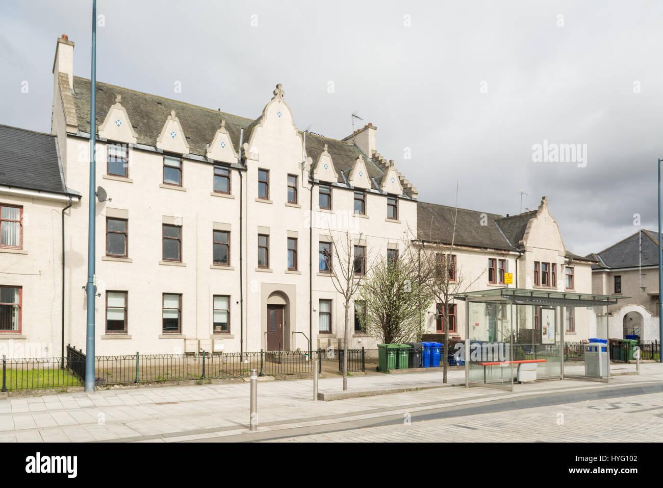 Drip Road, Raploch, Stirling, Scotland, UK - housing block of flats - Stock Image