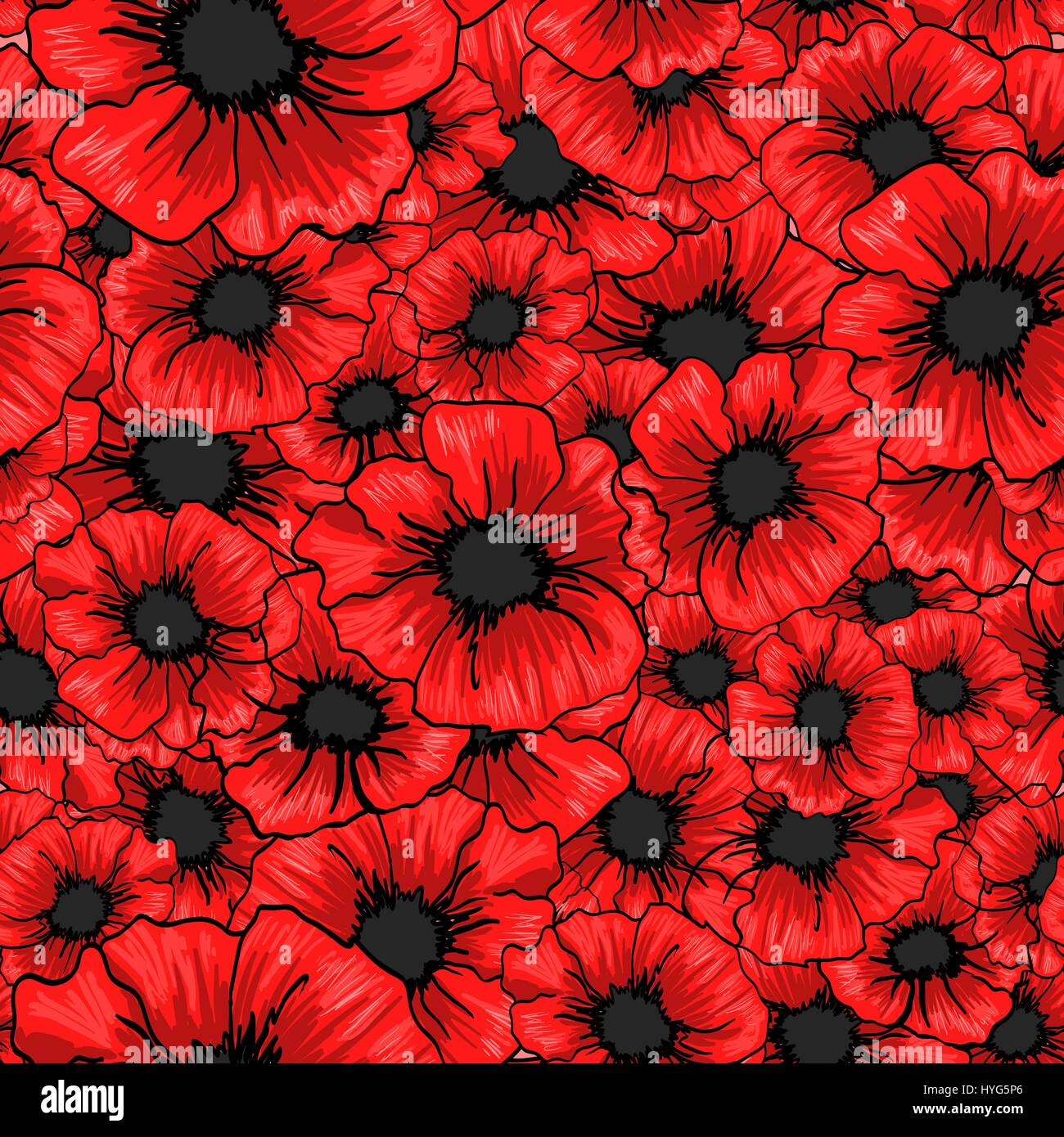 Red poppy flower seamless pattern for fabric textile design stock red poppy flower seamless pattern for fabric textile design mightylinksfo