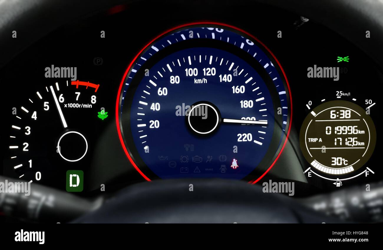 Car Dashboard Speedometer High Resolution Stock Photography And Images Alamy