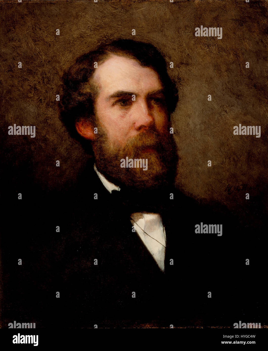 William Morris Hunt   Portrait of Edward Wheelwright (1857) - Stock Image