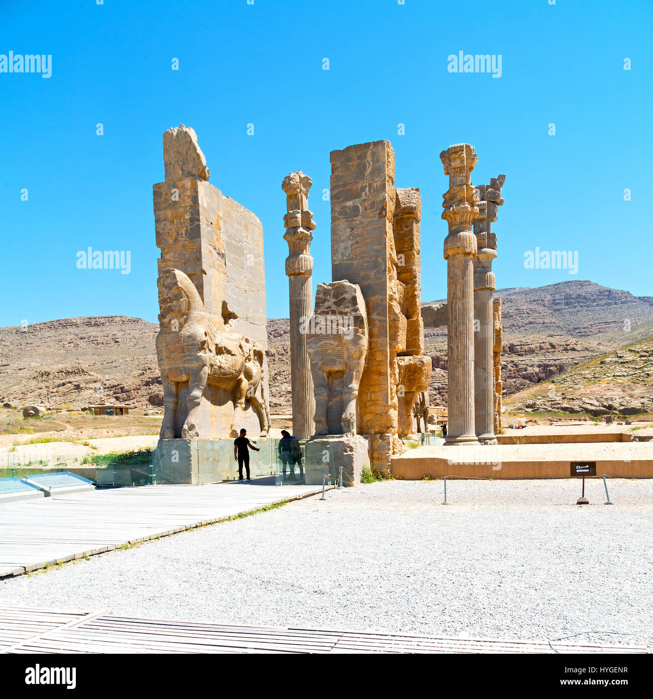 In Iran Persepolis The Old Ruins Historical Destination Monuments And Stock Photo Alamy