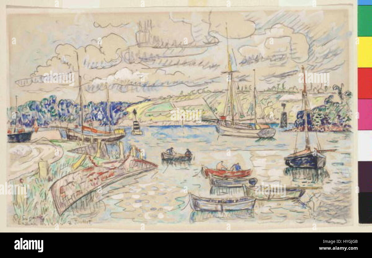 Paul Signac 11. 11. 1863 15. 8. 1935   Lezardrieux Stock Photo