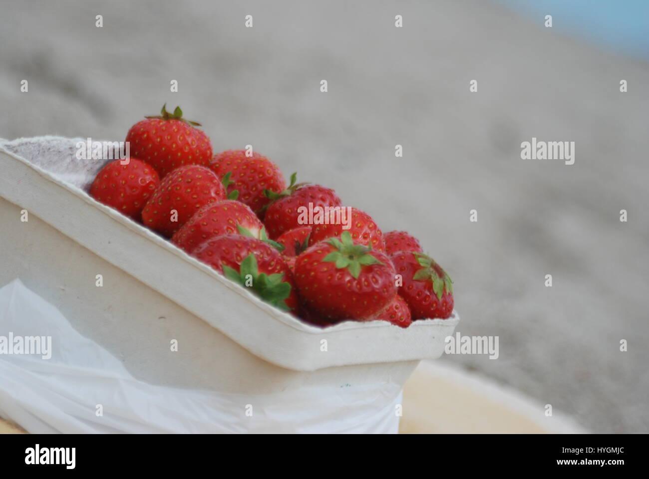 Silence Strawberries - Stock Image