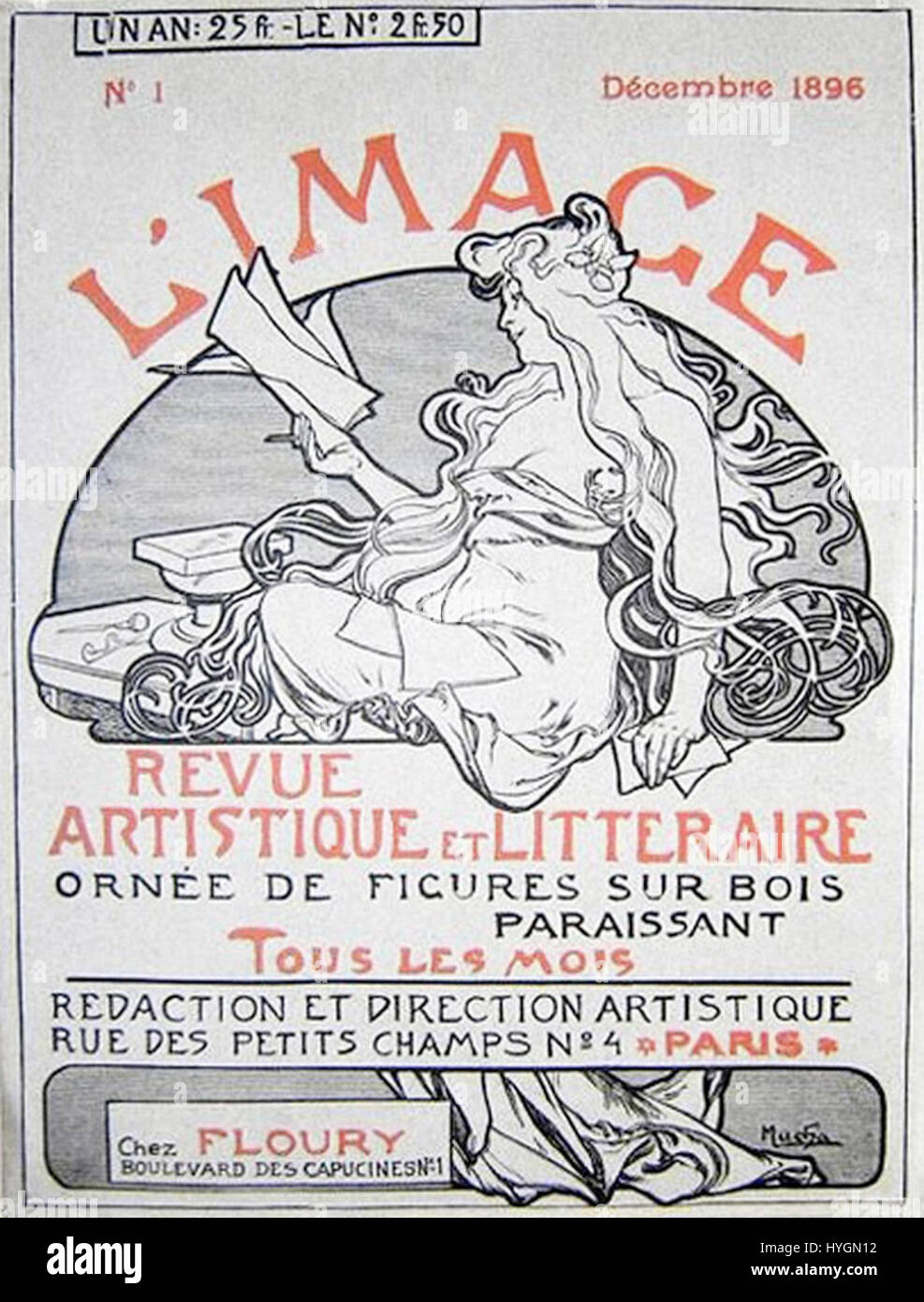 L'Image cover 01 Mucha - Stock Image
